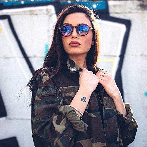 Tortuga espejo sol TWIG Gafas de Marron SOUTINE redondo mujer CZwp7qP