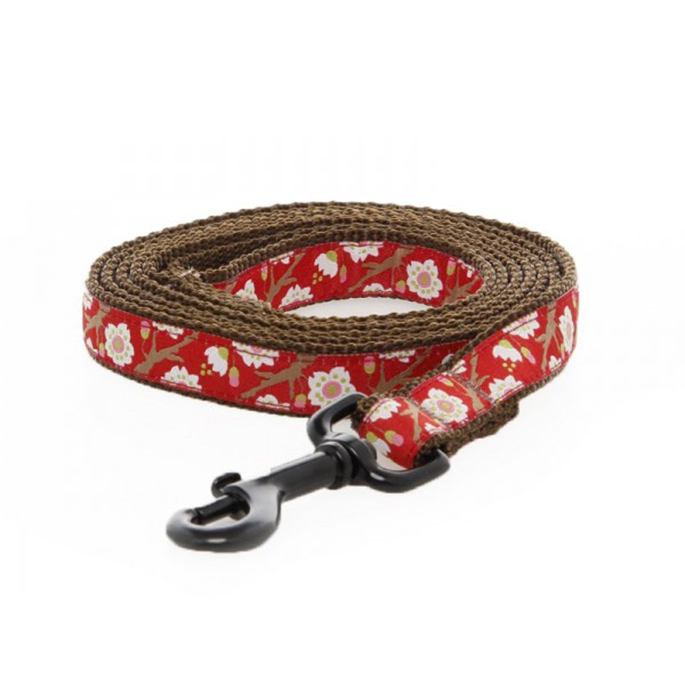 Max & Zoey Autumn Dog Leash, 5-Feet, Red