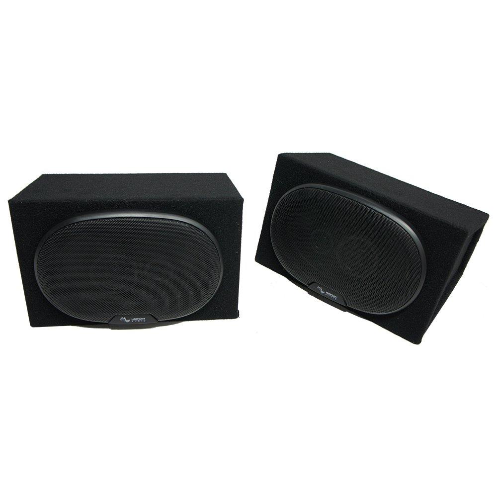 Universal Car Truck SUV Harmony Audio R69 Dual 6x9 Black Speaker Box Enclosures