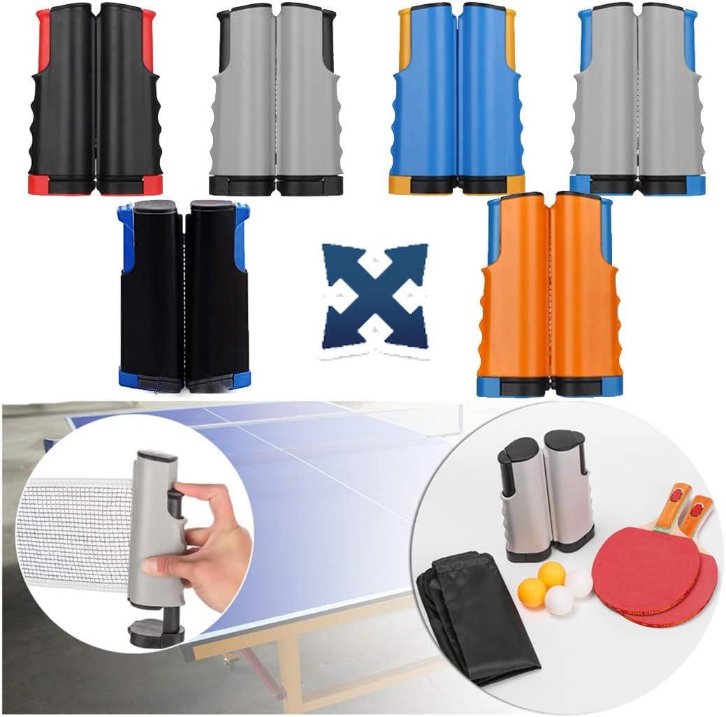 ZHLONG Mesa de Ping Pong Set, Doble Equipo del Tenis con un Estante retráctil Neto, y Dos Mesa de Ping Pong Raquetas y Cuatro canchas de Mesa,Blue/Black