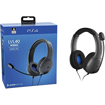 PDP - Auricular Stereo Gaming LVL40 Con Cable - Gris (PS4)