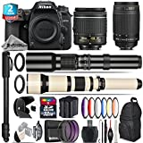 Holiday Saving Bundle for D7500 DSLR Camera + 650-1300mm Telephoto Lens + 70-300mm G Lens + AF-P 18-55mm + 500mm Telephoto Lens + 6PC Graduated Color Filter + 2yr Warranty - International Version