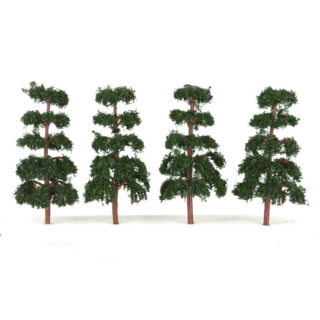 20 Dark Green Model Tree Train Railroad Street Park Scenery Layout N Scale