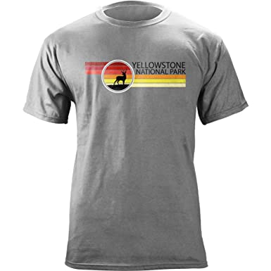 Amazon.com: USAMM Retro Yellowstone National Park 80's T-Shirt ...