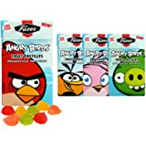 4 Boxes x 40g. of Fazer Angry Birds - 100% Natural Flavors - Finnish - Sugar - Fruity - Pastilles - Drops - Dragees - Candies - Sweets