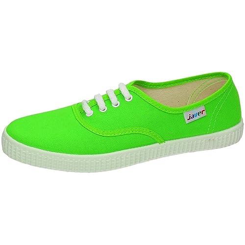 JAVER 60 Bambas Lonas Verdes Mujer Zapatillas: Amazon.es: Zapatos y complementos