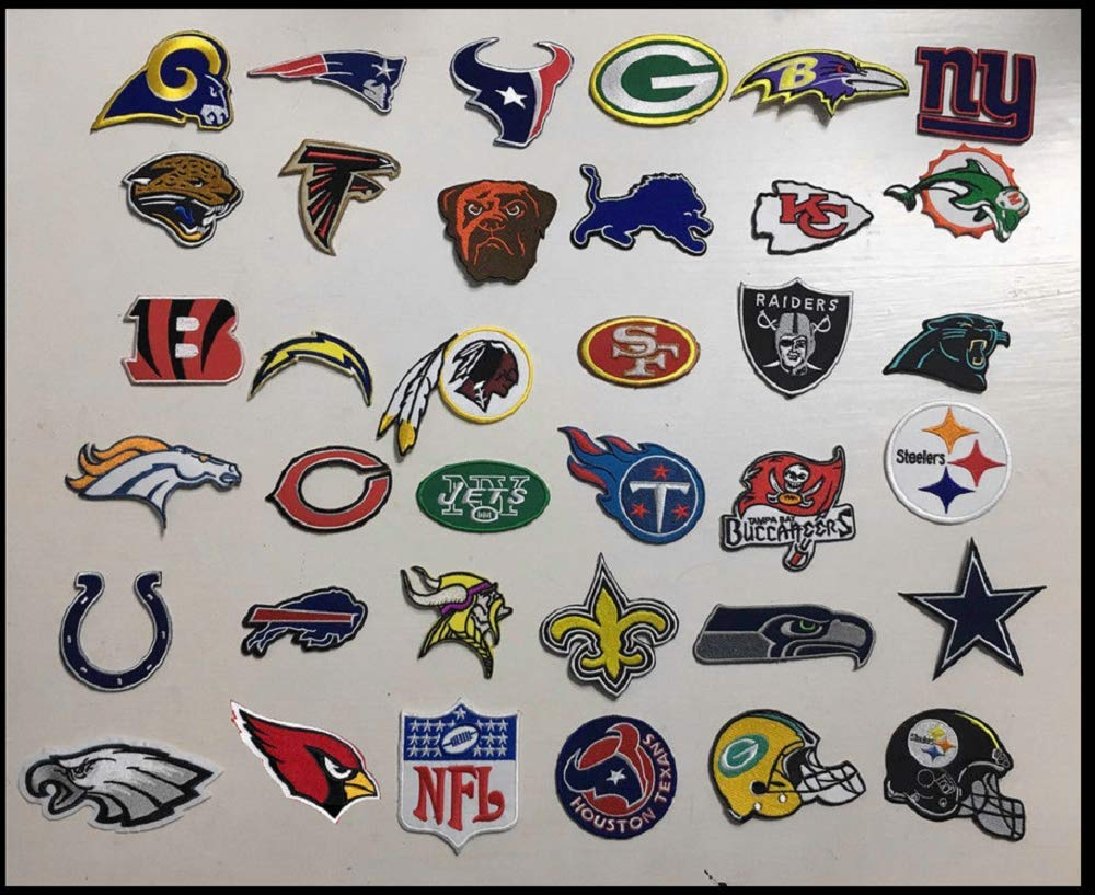 Iron On Patch Embroidered Logo NFL Teams Lot 36 Pcs by Lotus energy