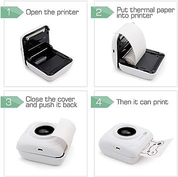 Mini Pocket BT Wireless Thermal Printer Paper Name Label Sticker Printing T5S3