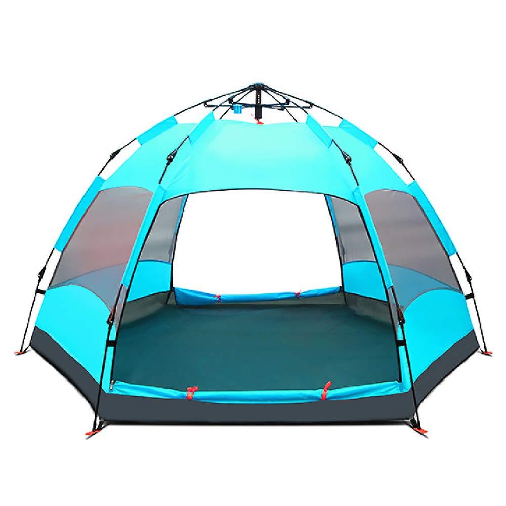 LBAFS Outdoor-Familien-Zelt-automatisches Anti-UVregendichtes Großes Zelt Für Kampierenden Familien-Party Küsten-Park, Person 6-9,LightBlau