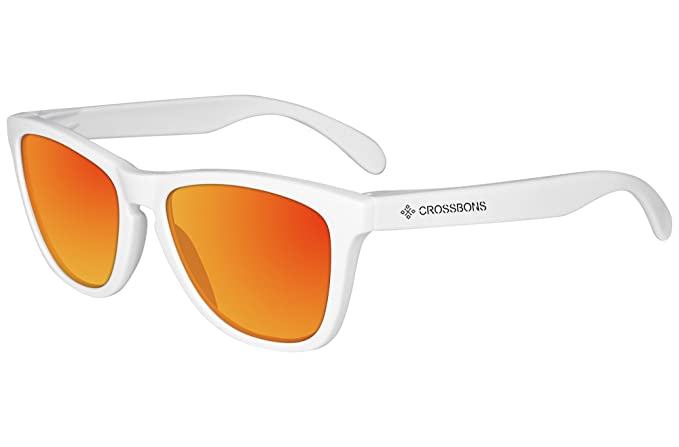 CROSSBONS - Gafas de sol POLARIZADAS - SPORT (Blanco - Rojo)