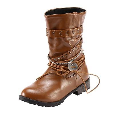 e250aacf68f ZYUEER Bottines Chaussures Femme BohêMe