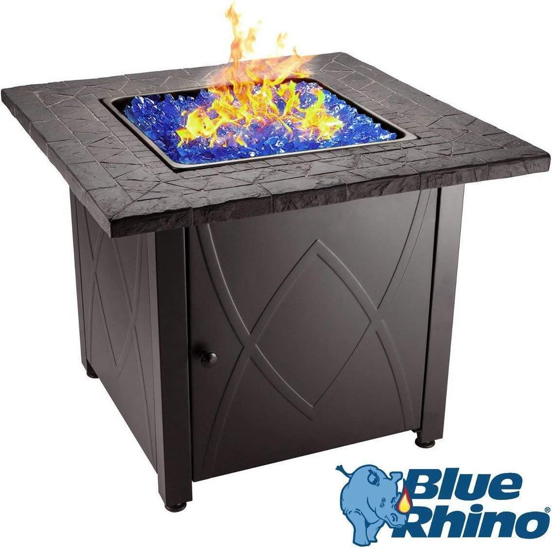 Blue Rhino Outdoor Propane Gas Fire Pit (Blue Fireglass)