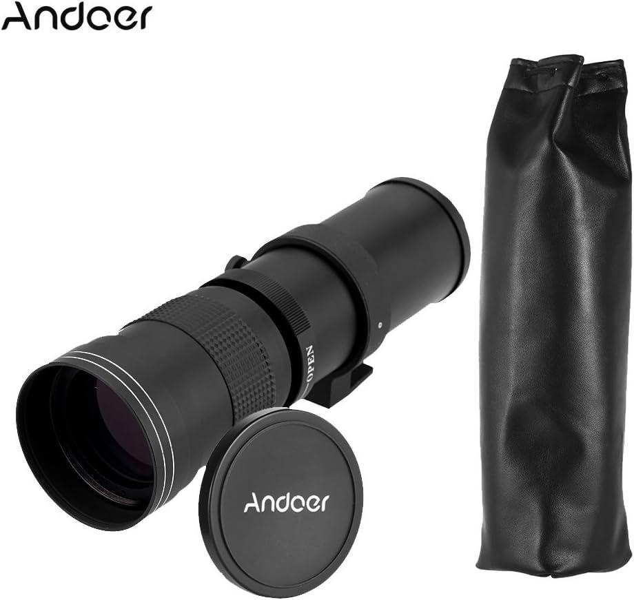 Andoer 420 – 800 mm f/8,3 – 16 HD Super teleobjetivo Lente de Zoom ...