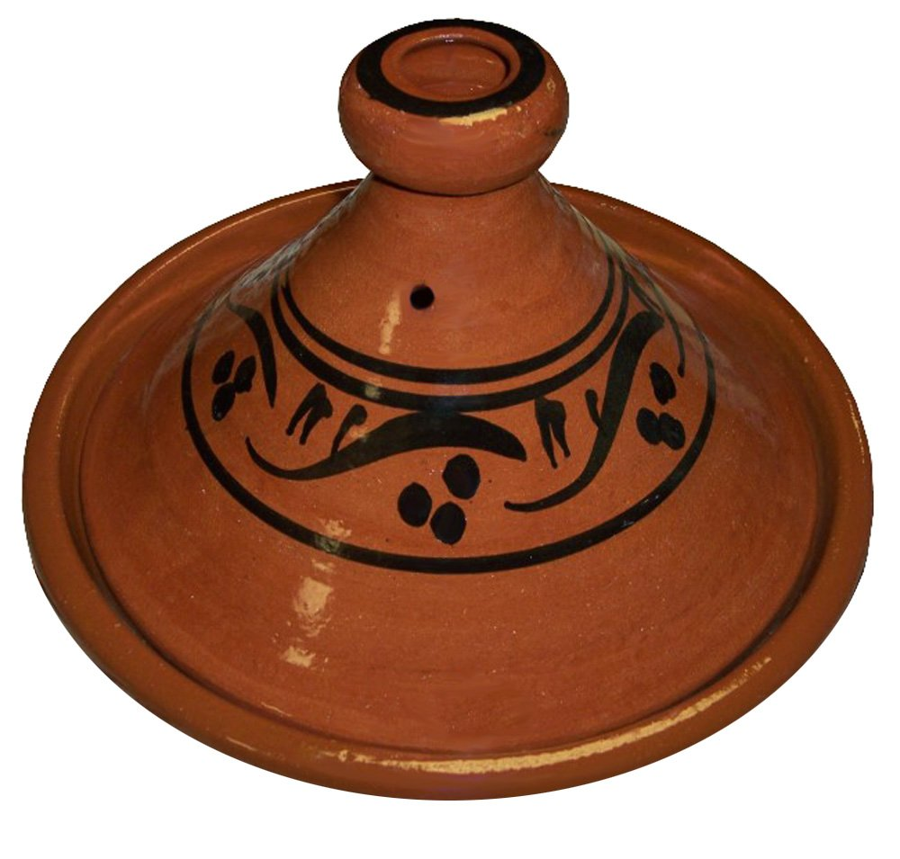 Moroccan Cooking Tagine Handmade Lead Free Safe Glazed Medium 10 inches Across Traditional