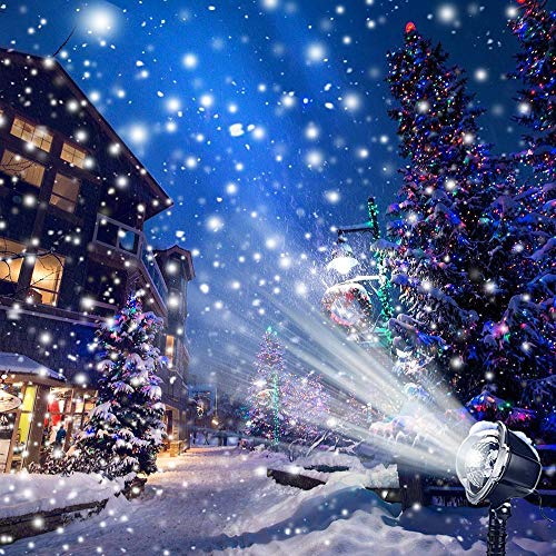CREASHINE LED Outdoor Lights with Wireless Remote, Snowflake Projector Lights Waterproof Outdoor Landscape Lighting for Lawn, Patio, Yard, Garden, Walkway, ()