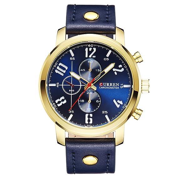 Nuevo producto de moda para hombre reloj negro reloj dorado reloj Business Casual reloj muñeca relojes