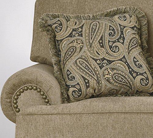 Keereel Traditional Sand Color Fiber Loveseat Best Sofas Online Usa