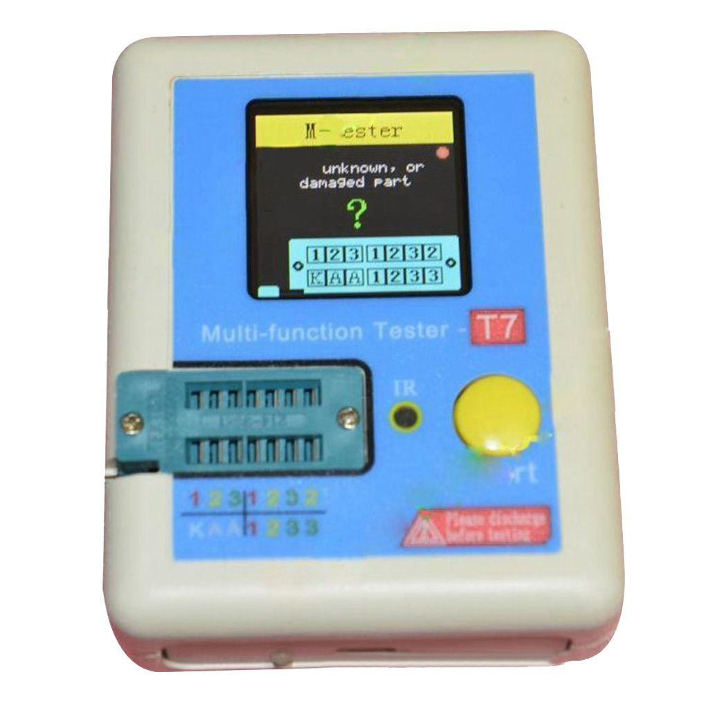Kakiyi Transistor Tester Diode Triode Kapazitä t Inductor Meter LCR ESR NPN PNP IR Multifunktions-Tester LCR-T7