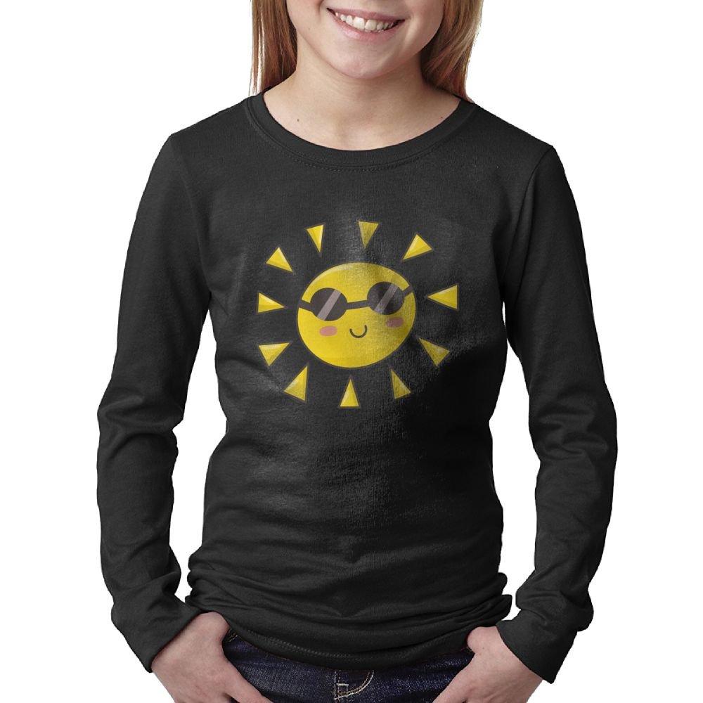 Cute Sun Glasses Daughters Cartoon Comfort Soft Teens Long Sleeve Tee by Hanfjj Kefdk