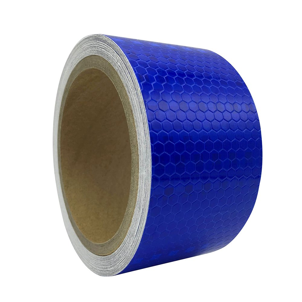 PerfecTech 2x 118 Reflective Pure Color Aveolate HoneyComb Prismatic Pattern Conspicuity Hazard Safety Warning Caution Tape Film White