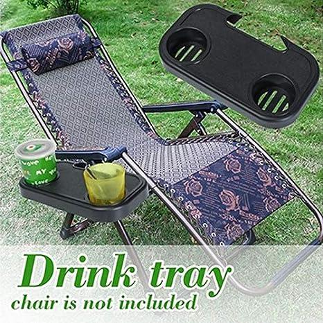 playa aperitivos y tazas NSDD plegable bandeja lateral para tel/éfono pesca picnic Mesa auxiliar con clip jard/ín silla lateral para camping port/átil
