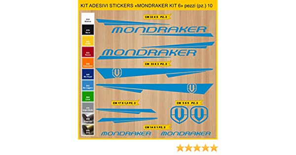 Kit Pegatinas Stickers Bicicleta MONDRAKER - Kit 6-10 Piezas- Bike Cycle Cod. 0886 (053 BLU LEGGERO): Amazon.es: Deportes y aire libre