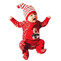 Baby Romper,My First Christmas Newborn Infant Baby Boys Girls Deer Romper Jumpsuit Outfits Clothes