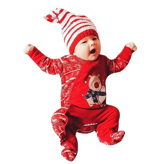 Amlaiworld Ropa de Navidad Bebe Navidad recién Nacido Infantil bebés niños niñas Ciervo Mameluco Trajes Trajes Ropa Trajes de Navidad Monos Ropa Peleles ...