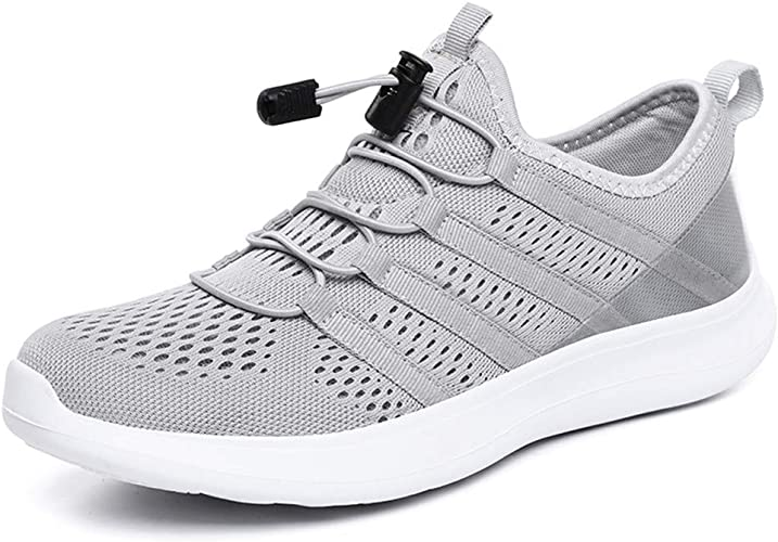 YKH Men Trainers Walking Shoes Jogging Fitness Sneakers Soft Cozy  Breathable Shoes Light Grey UK 10.5: Amazon.co.uk: Shoes & Bags