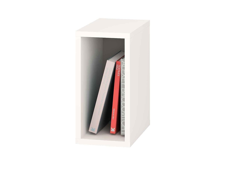 Samblo Mizu Slim Mensola, Legno, Bianco/Grigio, 40 x 20 x 33 cm Meka-Block S-9917B/G