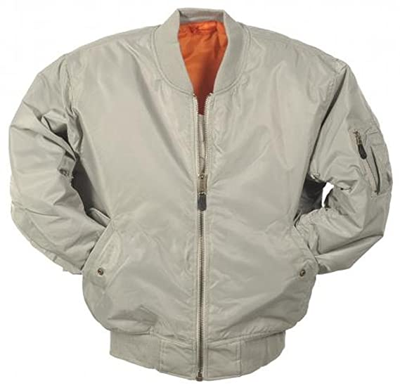 09592cc22 MA1 BOMBER JACKET WITH HEAVY BRASS ZIP (L, SILVER)
