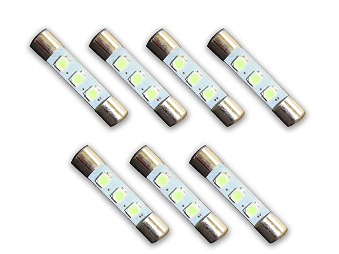 7 Cool Blue 8V LED Lamp Fuse-Type Bulbs for Marantz Receivers and Amplifiers