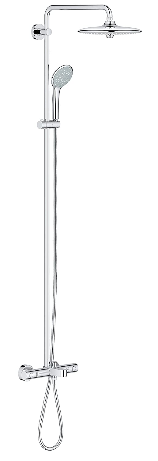 Grohe 26177001 Euphoria Shower System with Bath Thermostat for Wall Mount 2.5 gpm, StarLight Chrome