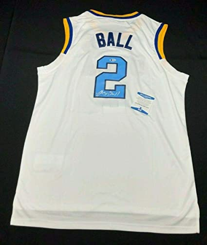 68fe40e270f3 Image Unavailable. Image not available for. Color  Lonzo Ball Signed Jersey  - UCLA Bruins ...