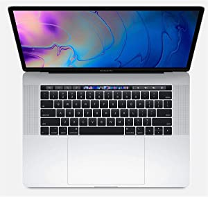 """Apple 15.4"""" MacBook Pro with Touch Bar, 2.6GHz 6-Core Intel Core i7, 32GB RAM, 1TB SSD, Radeon Pro 560X, Silver (Mid 2018)"""