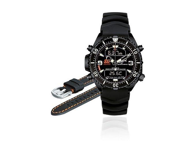 Chris Benz Depthmeter Digital CB-D-ALLBLACK-SSI Cronógrafo para hombres Ordenador de Buceo: Amazon.es: Relojes