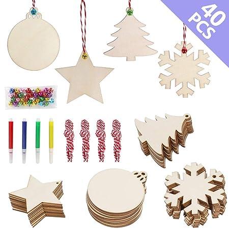 OurWarm - Adornos de Madera para decoración de Tarjetas navideñas ...