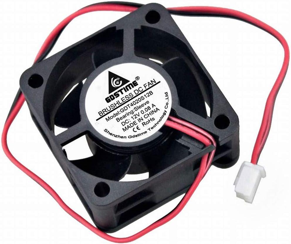 GDSTIME 40x40x20mm 40mm 4cm 12v Dc Brushless Cooler Cooling Fan