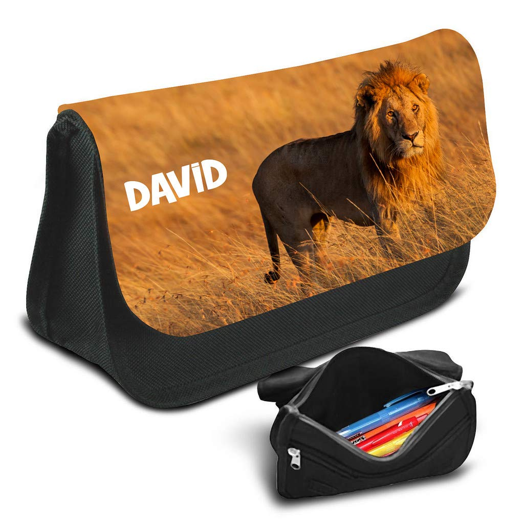 Lion Personalised Pencil Case Game School Bag Kids Stationary 06