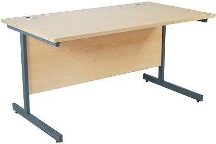 best website a12c1 c2f35 NEXT DAY Karbon Rectangular Cantilever Office Desks: Amazon ...