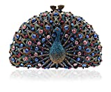 Luxury Crystal Clutches For Women Peacock Clutch Evening Bag