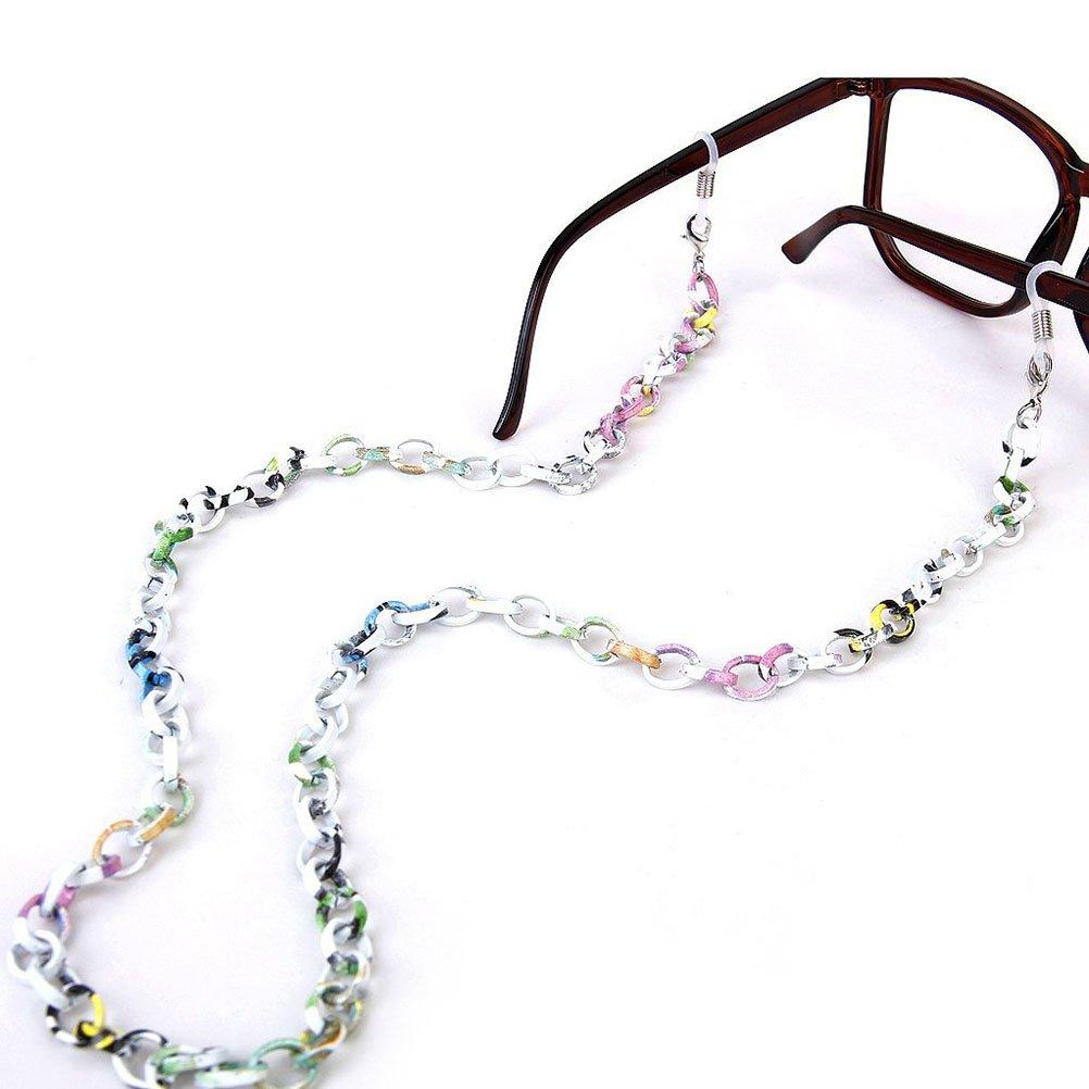 LEORX-Catenina per occhiali, 70 cm, in alluminio, antiscivolo, Catena per occhiali da sole, multicol...