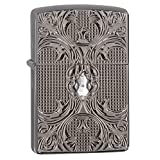 Zippo Crystal Lattice Ice Pocket Lighter, Black