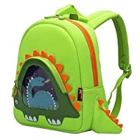 OFUN Dinosaur Backpack for Kids, 13'' Dinosaur Toys Bag, Kindergarten Preschool...