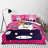 RuiHome 4pcs Queen Size Bedding Duvet Cover Sets for Teens Girls Boys Bedroom College Dorms, Lovely Pig Pattern Design
