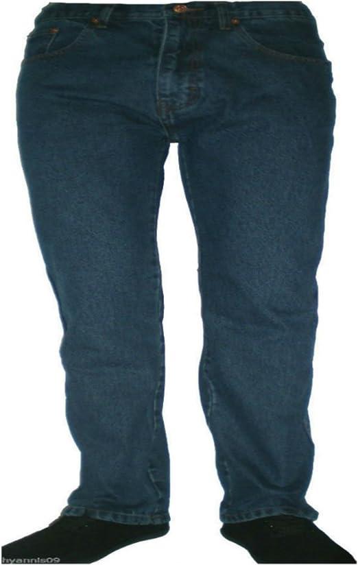 """Mens Jeans Regular Fit Straight Leg Denim Pants All Waist Big Tall Sizes 30/""""-40/"""""""