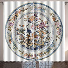 SOCOMIMI Lush Decor an antique early th century staffordshire plate with exotic chinoiserie design genuine antiques