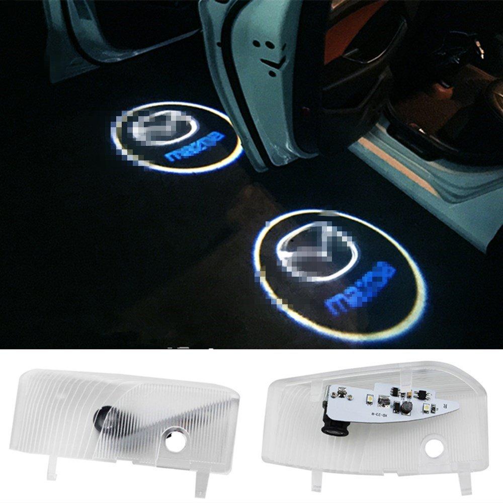 XYSTAR 2 Stück Autotür Logo Einstiegsbeleuchtung Projektion Licht Türbeleuchtung Ghost Shadow Welcome Licht