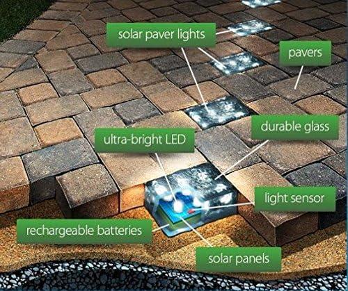4x8 Solar Paver Light Brick Light Led Solar Paver Light Led Solar Brick Walkway Light Garden Light Patio Light Amazon Co Uk Lighting