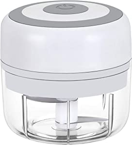 Electric Mini Garlic Chopper Slicer, Wireless Portable Food Chopper processor, Palm sized blender for Fruits Garlic/Fruits/Vegetables/Onions/Nuts/Pepper/Ginger/Salad - Kitchen gadget